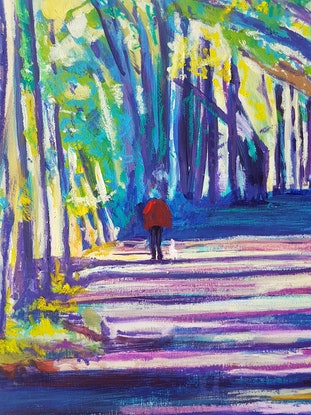 (CreativeWork) GREENWAY PATH by Suzy Strout. Mixed Media. Shop online at Bluethumb.