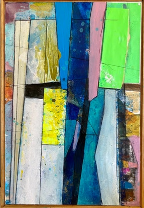 (CreativeWork) See What Happens  by Eugene O'Sullivan. Mixed Media. Shop online at Bluethumb.