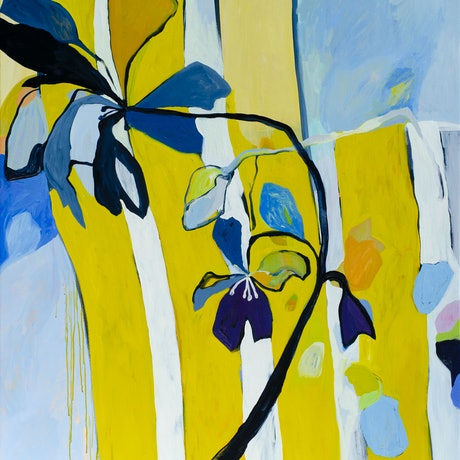 (CreativeWork) Picket Fence by Lydie Paton. Oil Paint. Shop online at Bluethumb.
