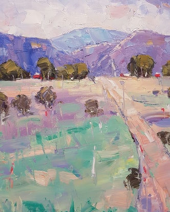 (CreativeWork) Capertee Colours. NSW. by Barry Back. Oil Paint. Shop online at Bluethumb.