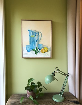 (CreativeWork) Lazy Afternoons by Catherine Stait-Gardner. Acrylic Paint. Shop online at Bluethumb.