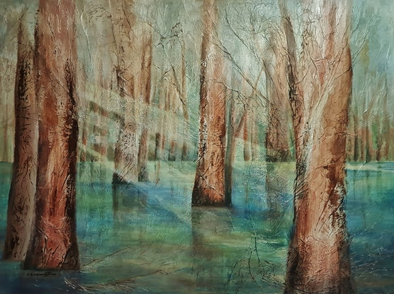 (CreativeWork) Rays of Light, Hope and Comfort by Clare Riddington Jones. Mixed Media. Shop online at Bluethumb.