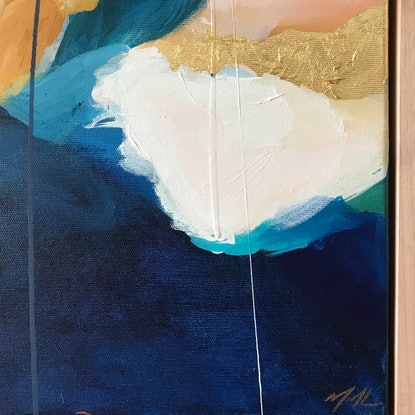 (CreativeWork) From The Morning by Marnie McKnight. Acrylic Paint. Shop online at Bluethumb.