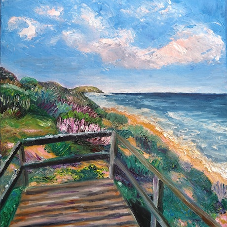 (CreativeWork) View from the Bluff by Trista Henfling. Oil Paint. Shop online at Bluethumb.