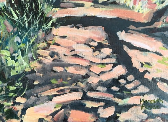 (CreativeWork) Trail of Mount Painter  by Meredith Howse. Acrylic Paint. Shop online at Bluethumb.