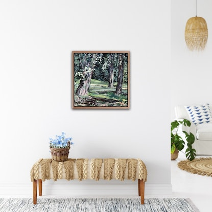 (CreativeWork) Canberra Eucalyptus  by Meredith Howse. Acrylic Paint. Shop online at Bluethumb.