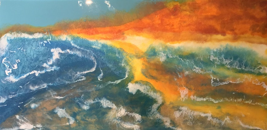 (CreativeWork) Kimberley Reflections  by Kit McNeill. Resin. Shop online at Bluethumb.