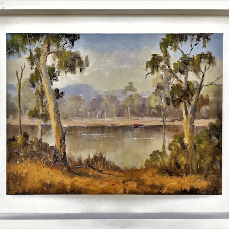 (CreativeWork) Reflections by Viv Gregory. Oil Paint. Shop online at Bluethumb.