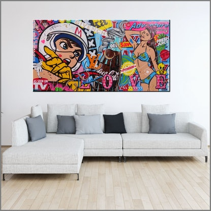 (CreativeWork) Speed Machine 190cm x 100cm Speed Racer Urban Pop  Acrylic Gloss Finish FRANKO  by _Franko _. Mixed Media. Shop online at Bluethumb.