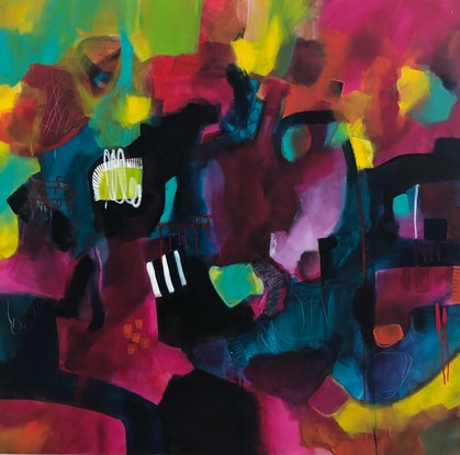 (CreativeWork) Love and Light by Jacqui Armstrong. Acrylic Paint. Shop online at Bluethumb.