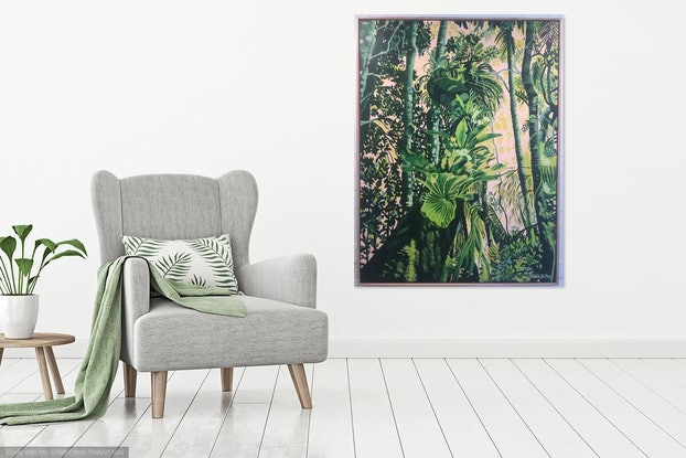 (CreativeWork) Springbrook Solace by Olivia Dilks. Acrylic Paint. Shop online at Bluethumb.