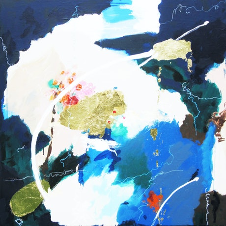(CreativeWork) Another Planet by Lesley Taylor. Mixed Media. Shop online at Bluethumb.