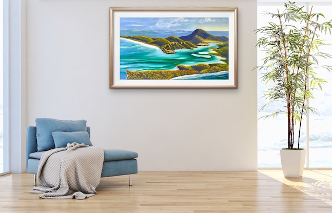 (CreativeWork) Whitehaven The Withsundays  by Kit McNeill. Oil Paint. Shop online at Bluethumb.