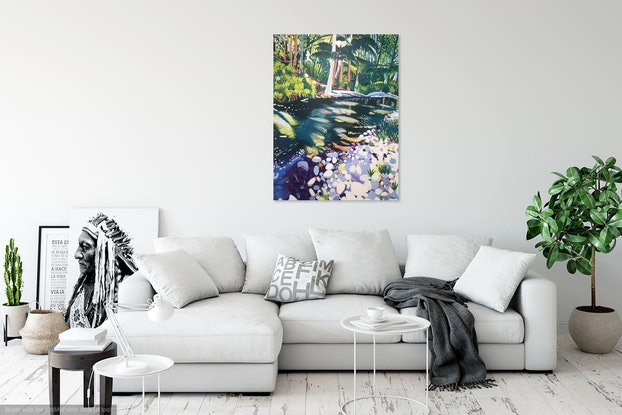 (CreativeWork) Currumbin Creek by Olivia Dilks. Acrylic Paint. Shop online at Bluethumb.