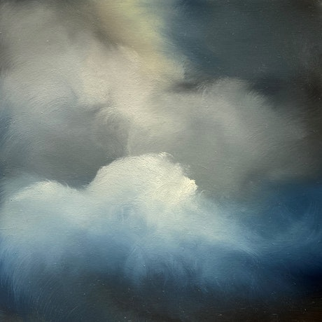 (CreativeWork) Merging Clouds by Elaine Green. Oil Paint. Shop online at Bluethumb.