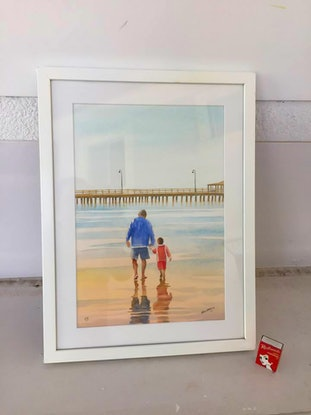 (CreativeWork) Grandpa Whispers by Pete Martin. Watercolour Paint. Shop online at Bluethumb.
