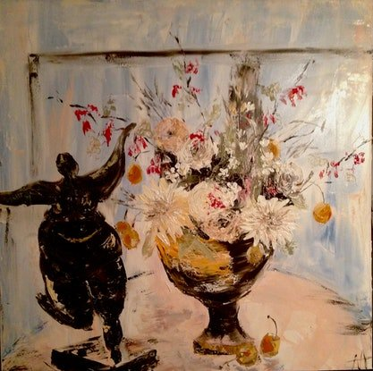 (CreativeWork) Dance by Anita Parker. Acrylic. Shop online at Bluethumb.