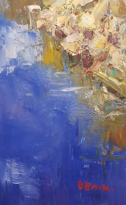 (CreativeWork) Peaceful Inlet. Sydney Harbour. NSW by Barry Back. Oil Paint. Shop online at Bluethumb.