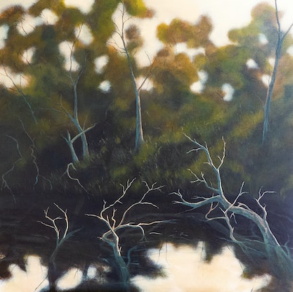 (CreativeWork) Lost in a Forest by David Green. Acrylic Paint. Shop online at Bluethumb.