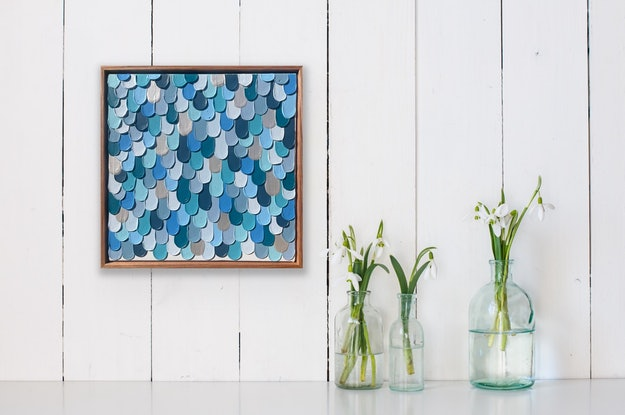 (CreativeWork) Blue Pearl 02 by Kerry Leigh. Acrylic Paint. Shop online at Bluethumb.
