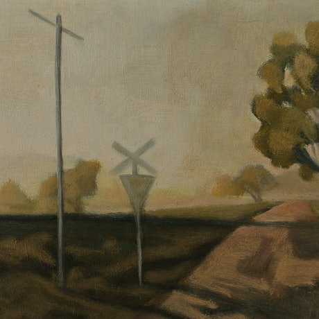 (CreativeWork) Morning Crossing by David Green. Oil Paint. Shop online at Bluethumb.