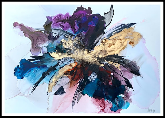 (CreativeWork) Leather and Lace by Michelle Drougas. Mixed Media. Shop online at Bluethumb.