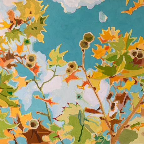 (CreativeWork) Fall In Love by Aylee Kim. Oil Paint. Shop online at Bluethumb.