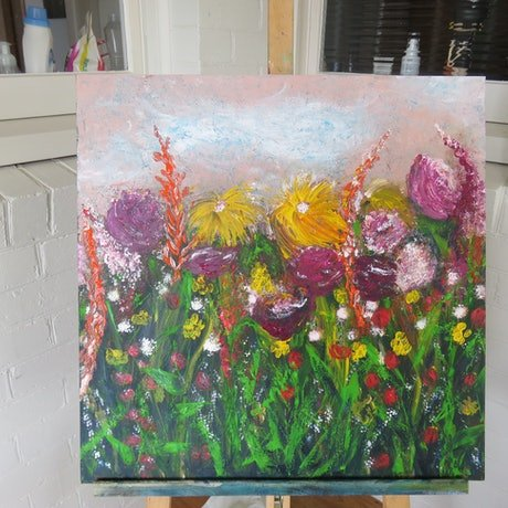 (CreativeWork) the garden by Robyn Michael. Acrylic. Shop online at Bluethumb.
