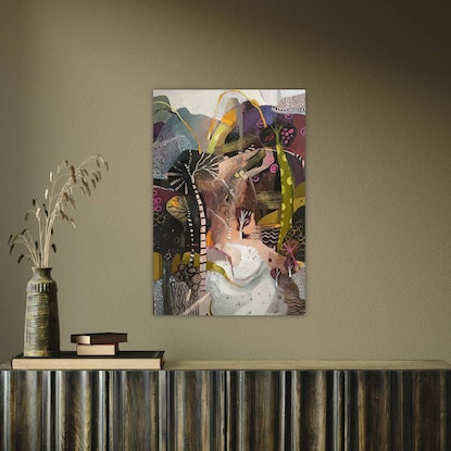 (CreativeWork) Abstract Landscape  - Mystique by Susan Trudinger. Acrylic Paint. Shop online at Bluethumb.