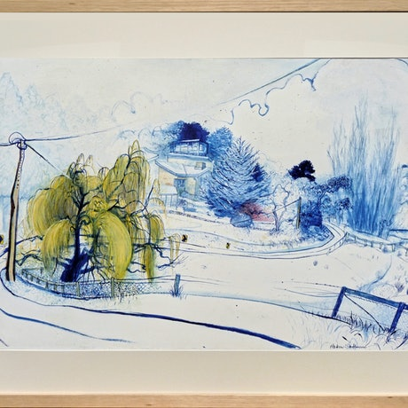 (CreativeWork) Aldgate Valley Road by Andrew Stattmann. Mixed Media. Shop online at Bluethumb.