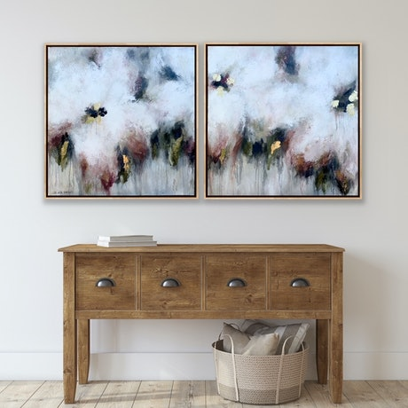 (CreativeWork) Wild Appleblossom Martinis  by Lisa Wisse-Robinson. Mixed Media. Shop online at Bluethumb.