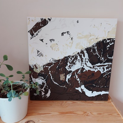 (CreativeWork) River square by Ellie Biggs. Acrylic Paint. Shop online at Bluethumb.