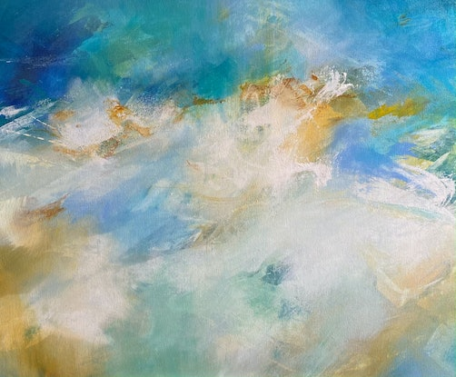 (CreativeWork) Summer Glade II by Joanne Duffy. Acrylic Paint. Shop online at Bluethumb.