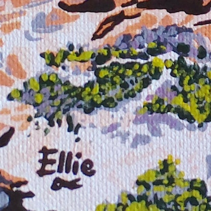 (CreativeWork) Redgate south by Ellie Biggs. Acrylic Paint. Shop online at Bluethumb.