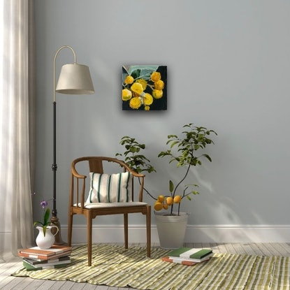 (CreativeWork) Sunshine by Hayley Kruger. Acrylic Paint. Shop online at Bluethumb.
