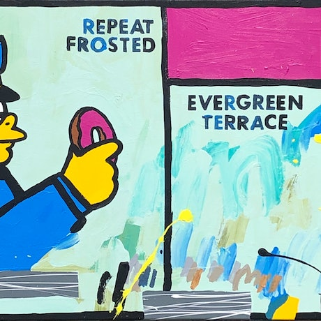 (CreativeWork) COMMISSION, RESERVED - Springfield 2 by Ben Tankard. Acrylic Paint. Shop online at Bluethumb.