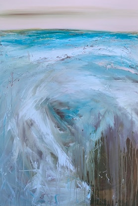 (CreativeWork) Echoes On The Horizon by Tania Chanter. Acrylic Paint. Shop online at Bluethumb.