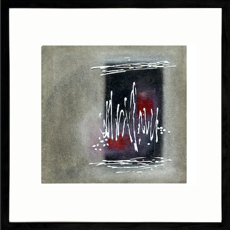 (CreativeWork) THE VIBE -  Framed 53x53cm by Geoff Birrell. Mixed Media. Shop online at Bluethumb.
