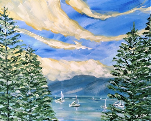 (CreativeWork) Sail Away With Me - LIMITED EDITION GICLEE PRINT on stretched canvas - Ready to hang   Ed. 1 of 100 by HSIN LIN. Print. Shop online at Bluethumb.