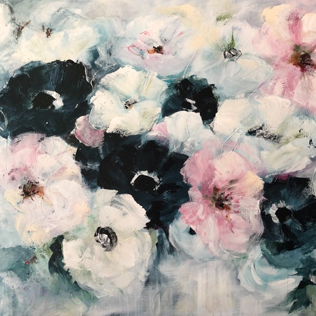 (CreativeWork) A Touch of Pink. by Marion Rispin. Acrylic Paint. Shop online at Bluethumb.