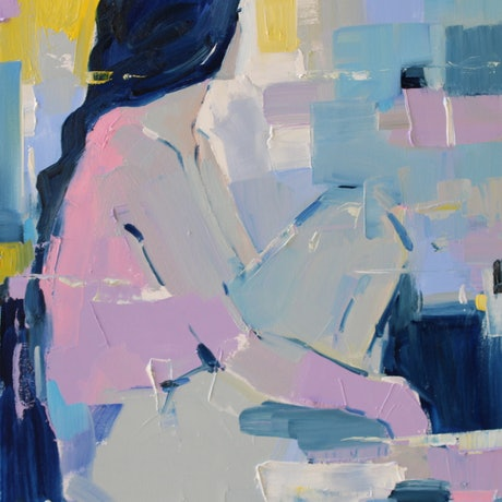 (CreativeWork) French Blue  15  by Li Zhou. Oil Paint. Shop online at Bluethumb.
