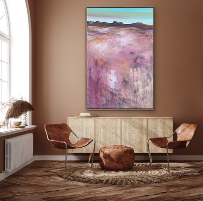 (CreativeWork) West - Textured 153  x 102 cm Extra Large Abstract Landscape by Tania Chanter. Acrylic Paint. Shop online at Bluethumb.