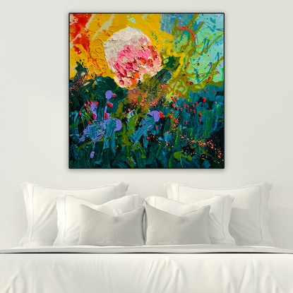 (CreativeWork) Vanity Fair by BAKER COLLECTION. Acrylic Paint. Shop online at Bluethumb.