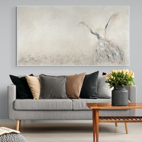 (CreativeWork) Sublime - Framed - Silence, Tension, Space Series by Cheryl Harrison. Acrylic Paint. Shop online at Bluethumb.