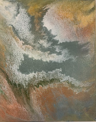 (CreativeWork) Golden Tide by Ginsten .. Acrylic Paint. Shop online at Bluethumb.