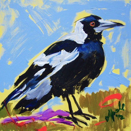 (CreativeWork) Magpie I Ed. 1 of 20 by Katerina Apale. Print. Shop online at Bluethumb.