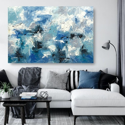 (CreativeWork) Portsea by Melanie Crawford. Acrylic Paint. Shop online at Bluethumb.