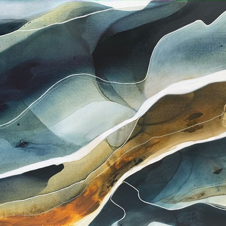 (CreativeWork) Light over the Water  by Dinah Wakefield. Acrylic Paint. Shop online at Bluethumb.