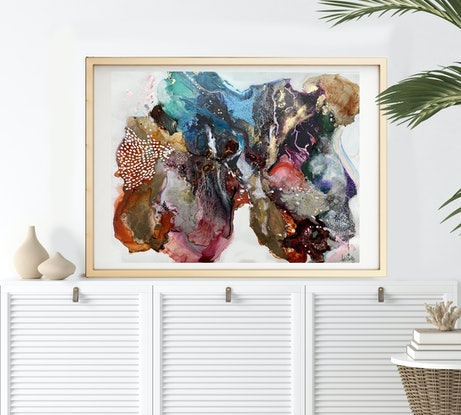 (CreativeWork) Instincts- Framed by Michelle Drougas. Mixed Media. Shop online at Bluethumb.