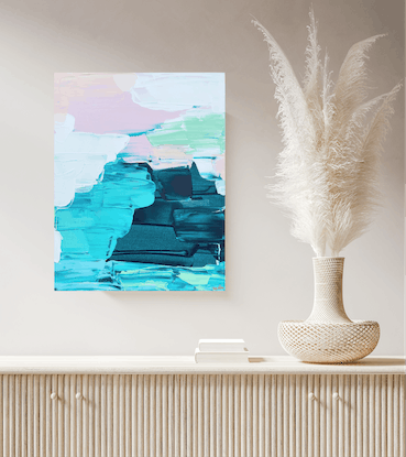 (CreativeWork) Nowhere I'd Rather Be by Maggi McDonald. Acrylic Paint. Shop online at Bluethumb.